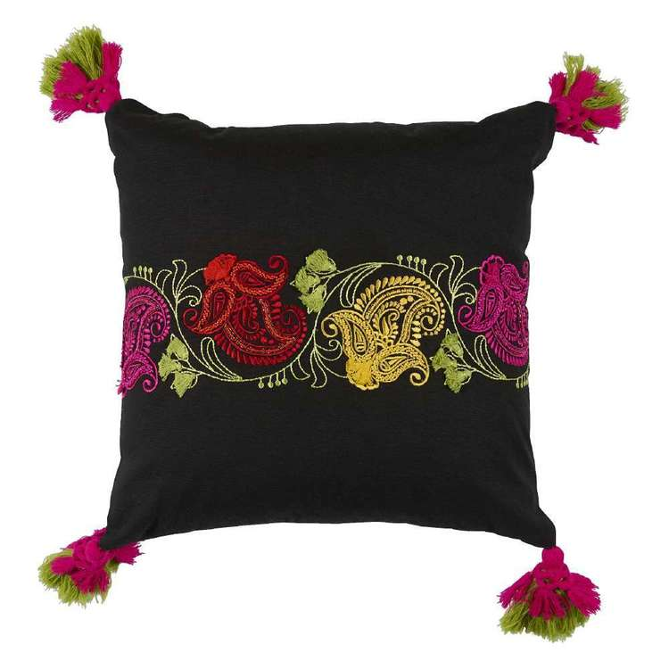 Koo Home Saffron Embroidered Cushion