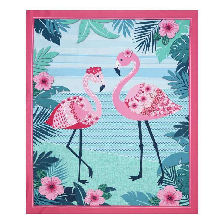 Studio E Flamingo Beach Cotton Panel