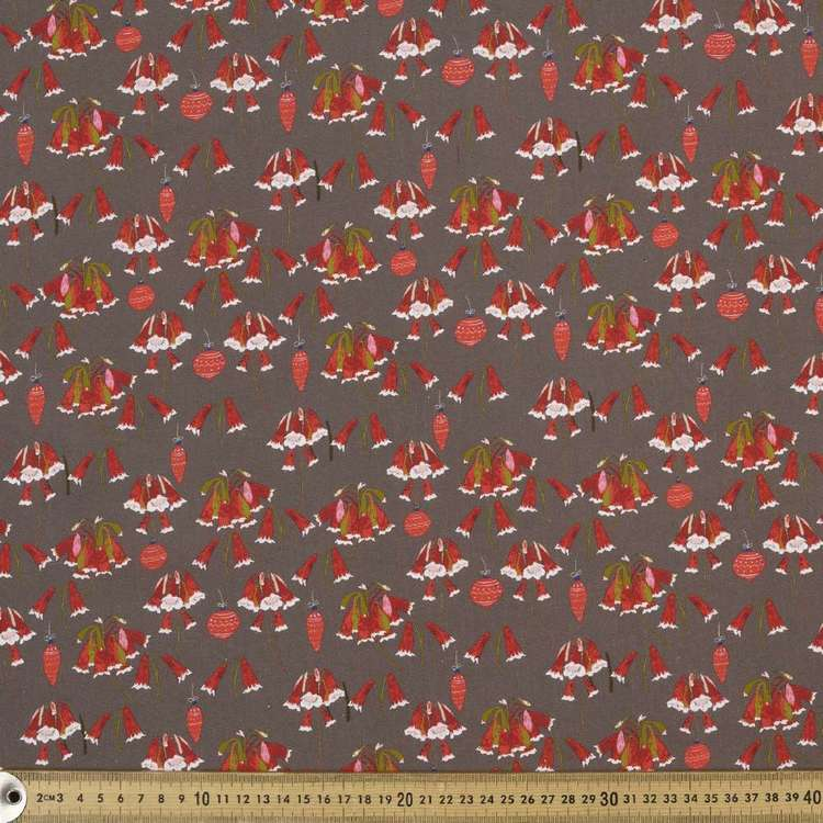 Anne Waters Digital Festive Bells Cotton Fabric