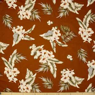 Aloha Printed Cotton Linen Fabric