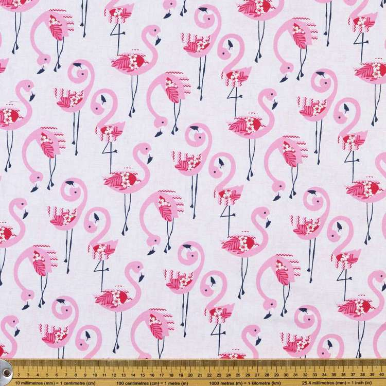 Studio E Flamingo Beach Flamingos Cotton Fabric