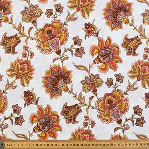 Tikka Printed Cotton Linen Fabric