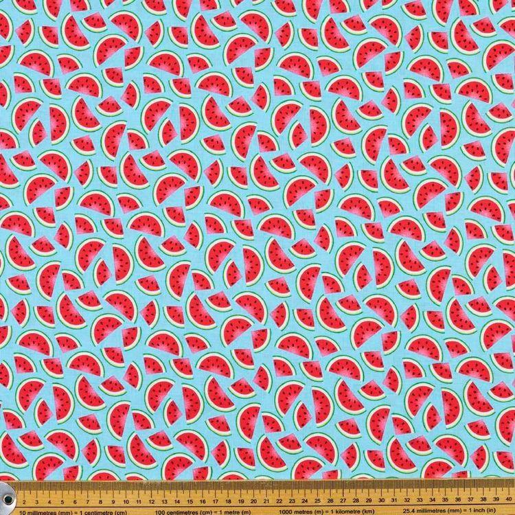 Studio E Flamingo Beach Watermelon Cotton Fabric