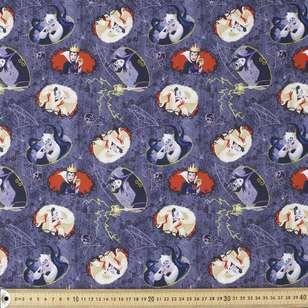 Dark Disney Villains Cotton Fabric