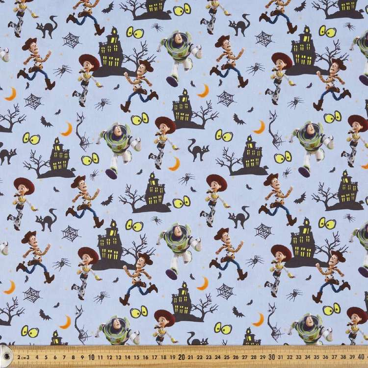 Disney Halloween Toy Story Cotton Fabric Blue 112 cm