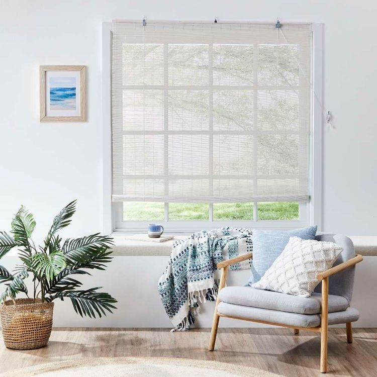 Windowshade Matchstick White Wash Roll Up Blind