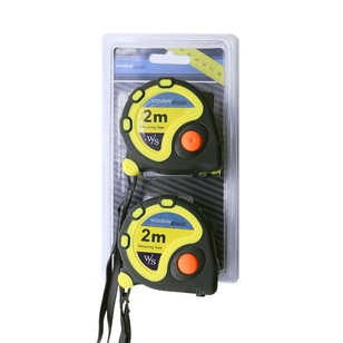 Windowshade Tape Measure 2m Twin Pack