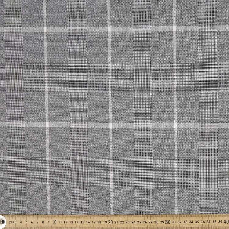 Hemmers Laminated Check Fabric