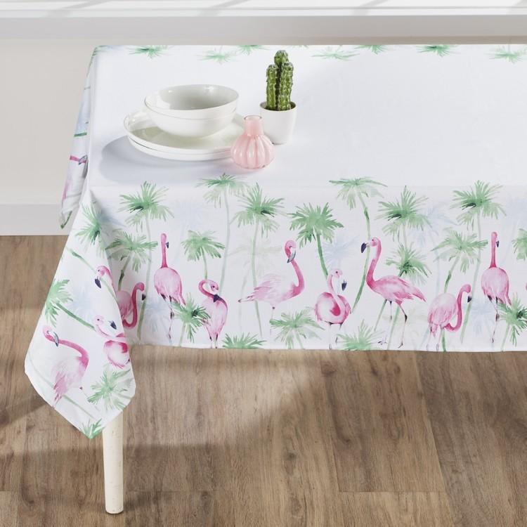 Koo Home Flamingo Printed Tablecloth