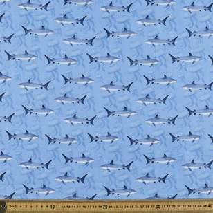 Ocean Shark Cotton Fabric