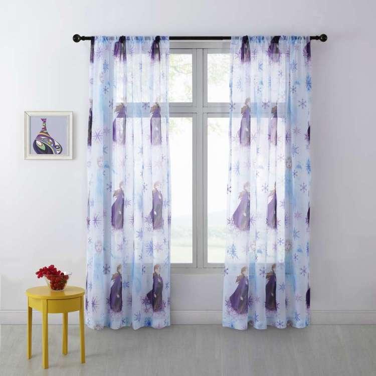 Frozen Rod Pocket Sheer Curtains