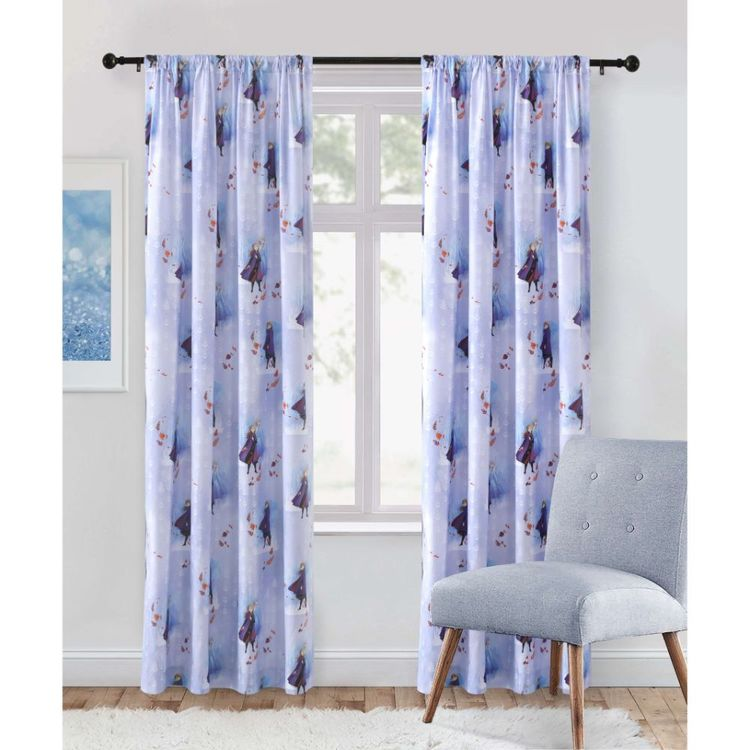 Frozen Rod Pocket Blockout Curtains
