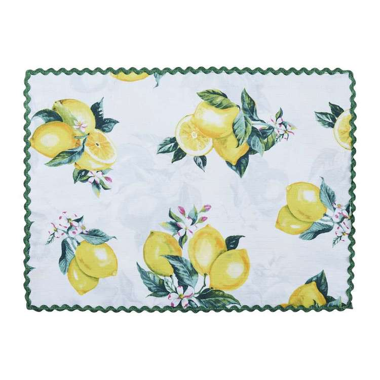 Koo Home Limone Printed Placemat Yellow 33 x 45 cm