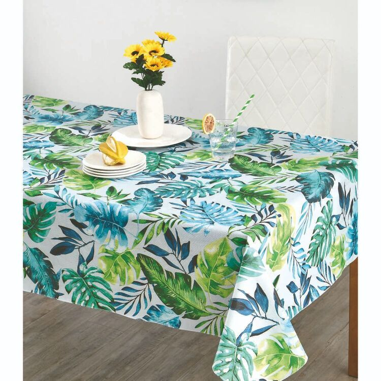 Living Space Tropics Printed Flannel Back Tablecloth