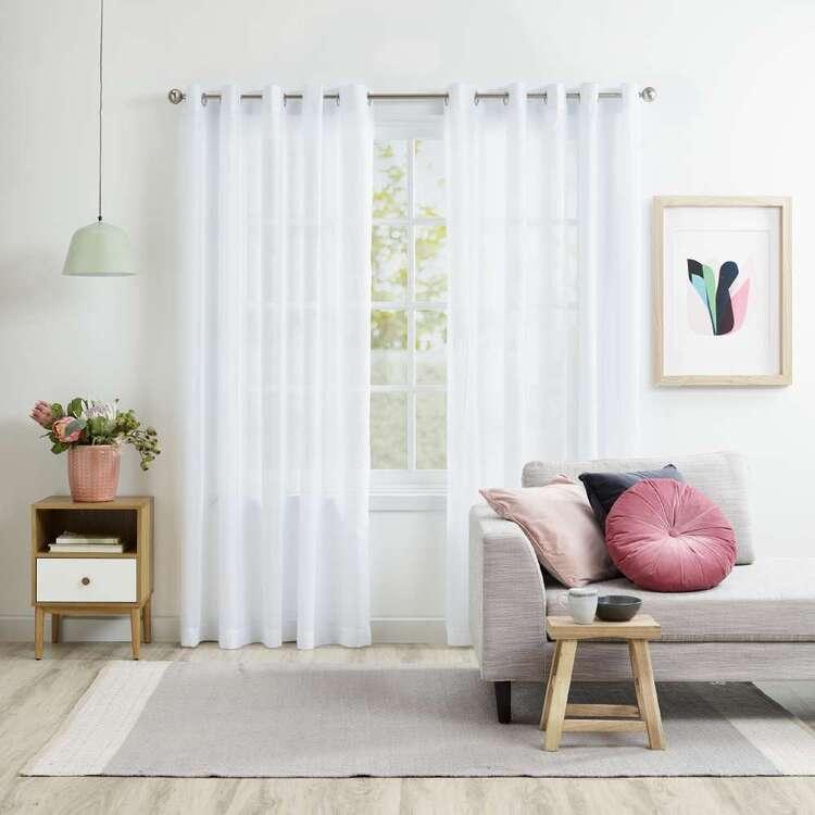 KOO Linton White Sheer Eyelet Curtains