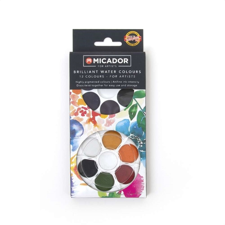 Micador Watercolour Disc 12 Pack