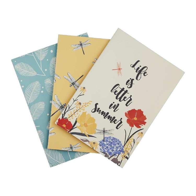 Francheville Summer Life Summer Designs Pack of 3 Notebook