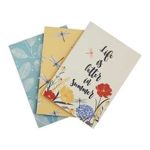 Francheville Summer Life Summer Designs Pack of 3 Notebook