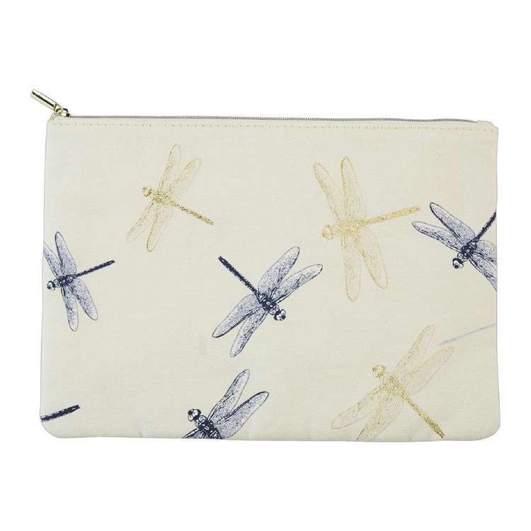 Francheville Summer Life Dragonfly Fabric Pencil Case