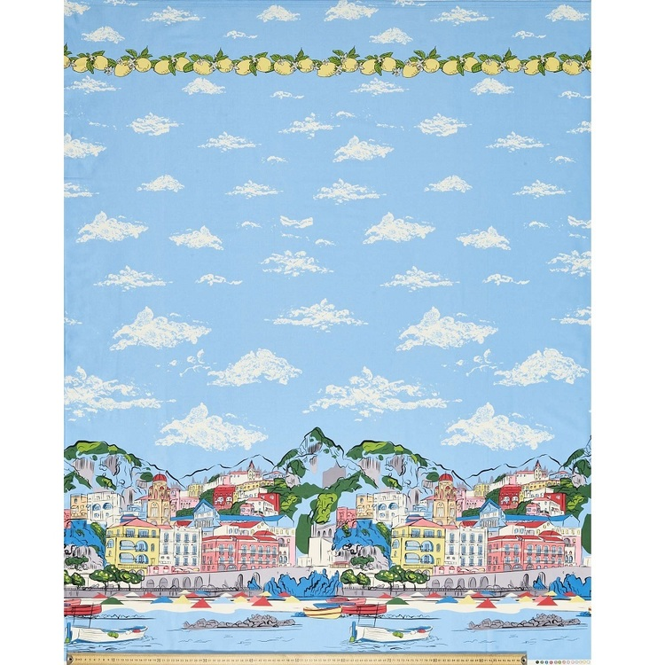 Gertie Riviera Printed Cotton Sateen Fabric