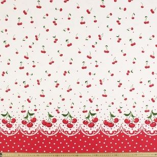 Gertie Cherry Bomb Printed Cotton Sateen Fabric