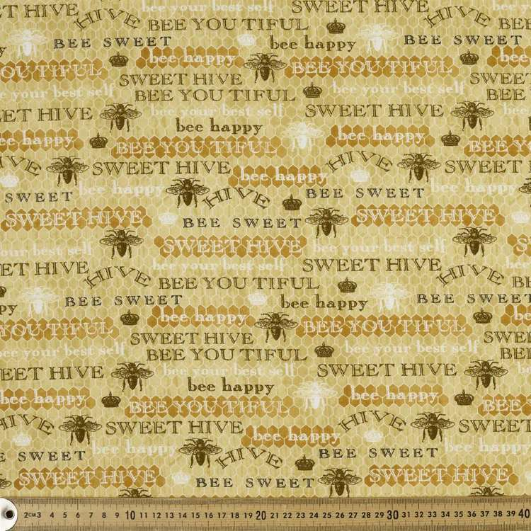 Studio E Bee Sweet Writing Cotton Fabric