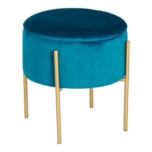 Living Space Capri Velvet Footstool With Storage