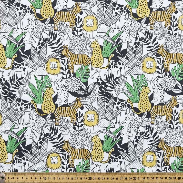 Leo & Friends Printed Cotton Poplin Fabric