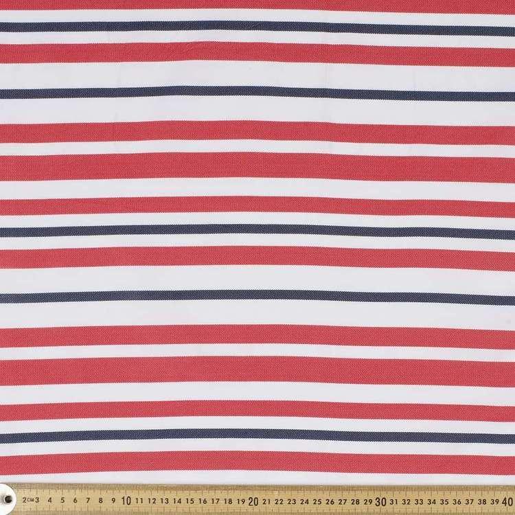 Nautical Stripe Weather Proof Canvas Fabric