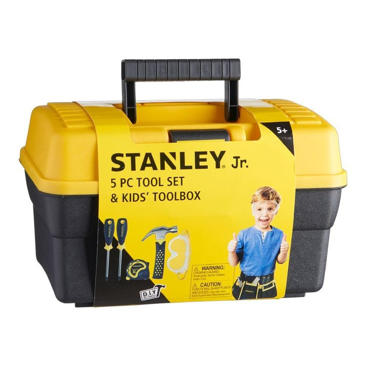 Stanley Toolbox Tool Set 5Pc Black & Yellow
