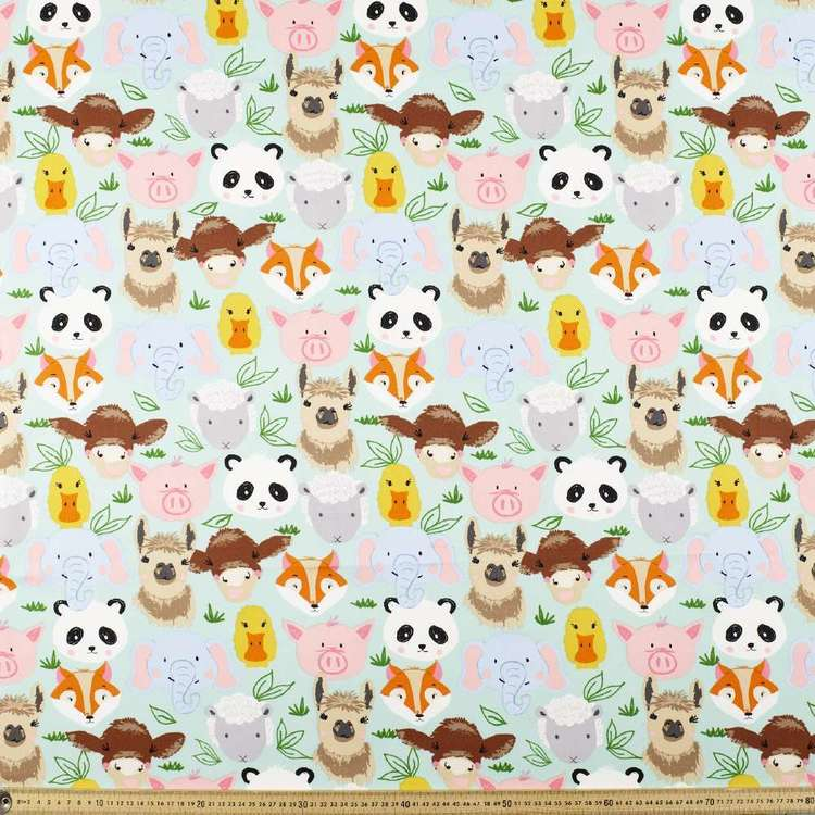 Faces Printed Montreaux Drill Fabric