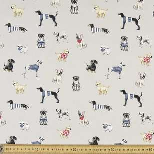Dog Gone Printed Montreaux Drill Fabric