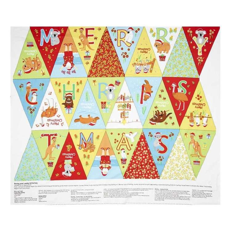 Sugar & Spice Textiles Aussie Christmas Bunting Panel