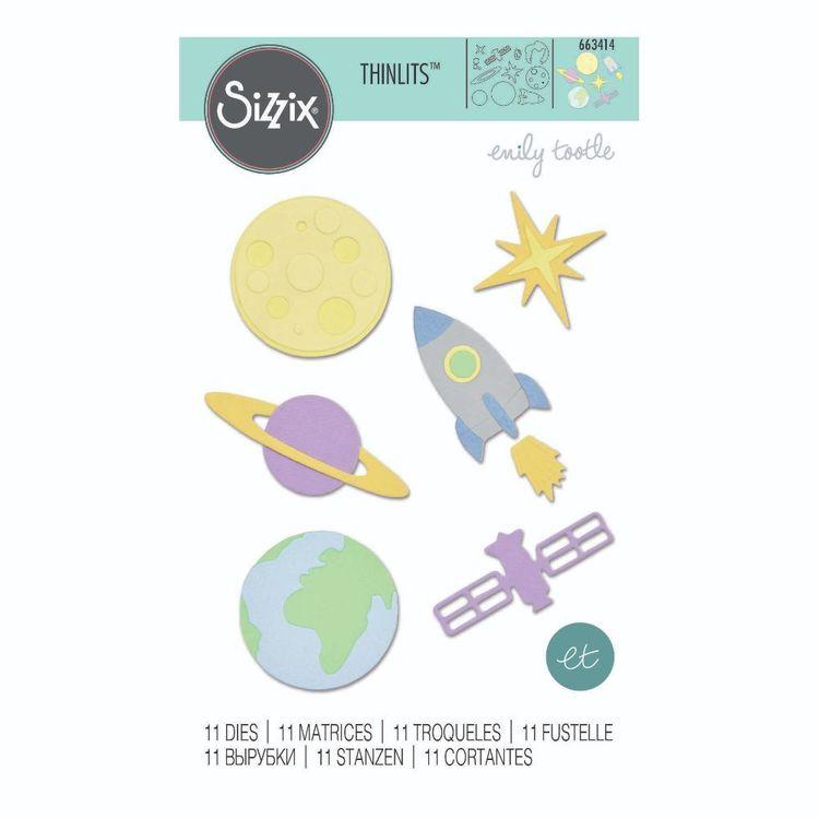 Sizzix Thinlits Space Die Set