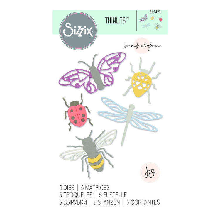 Sizzix Thinlits Jennifer Ogborn Insects Die Set 5 Pack