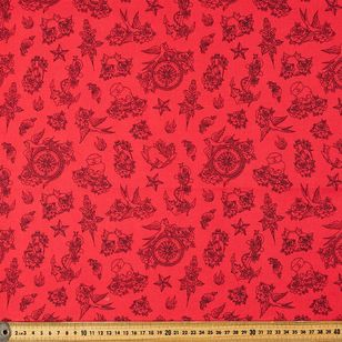 Flash Printed Stretch Cotton Poplin Fabric