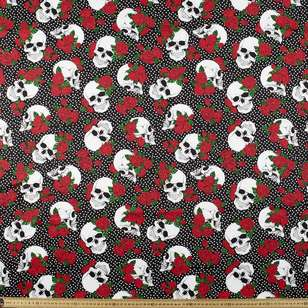 Skully Printed Cotton Sateen Fabric