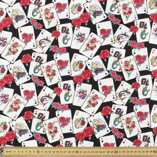 Ace In The Hole Printed Stretch Cotton Poplin Fabric