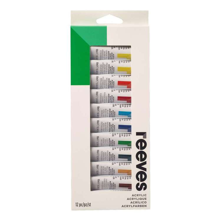 Reeves 10 ml Acrylic Paint Set 12 Pack