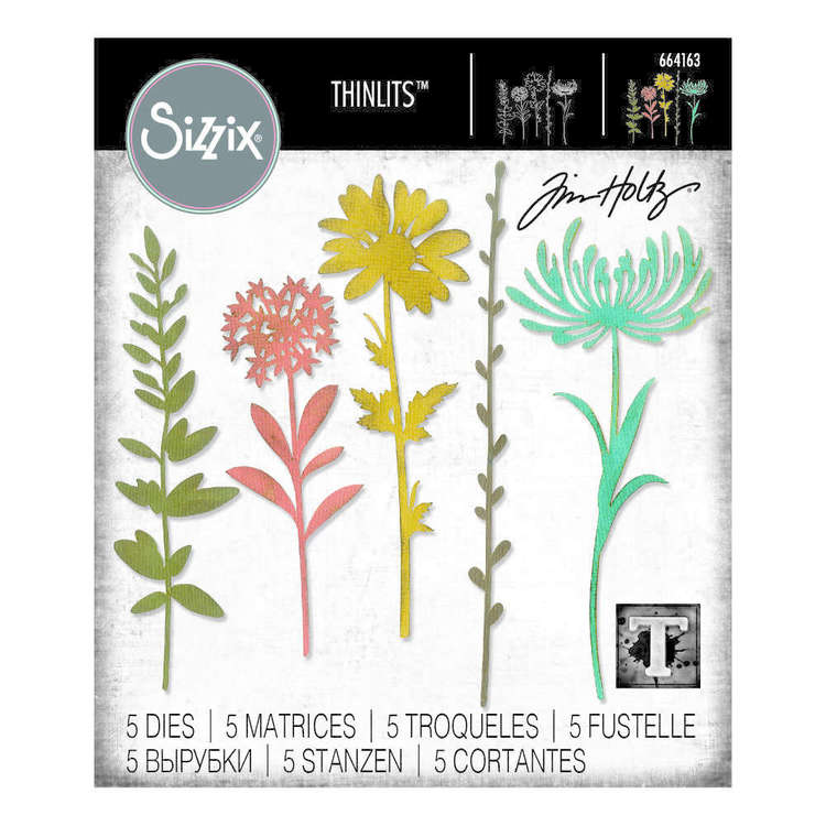 Sizzix Thinlits Tim Holtz Wildflower Stems Die