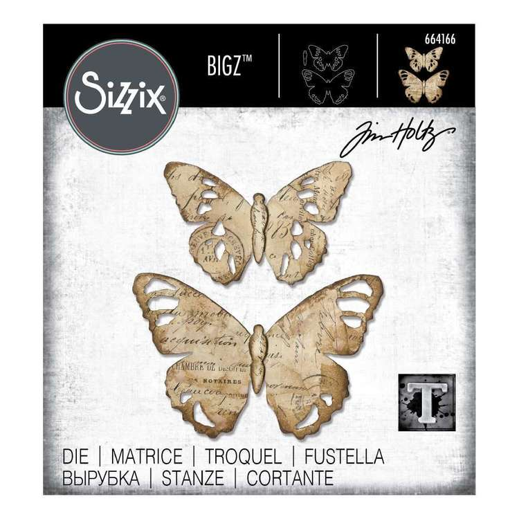 Sizzix Bigz Tim Holtz Tattered Butterfly Die