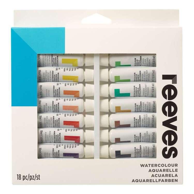 Reeves 18 Pack Watercolour 10 ml Paint Set