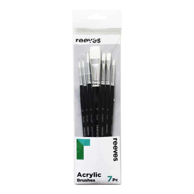 Reeves 7 Pack Short Handle Acrylic Brush Set