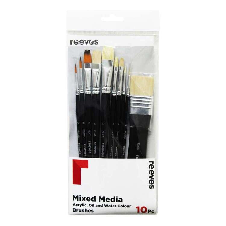 Reeves 10 Pack Mixed Media Brush Set