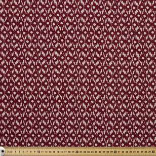 Ikat Printed Cotton Linen Fabric