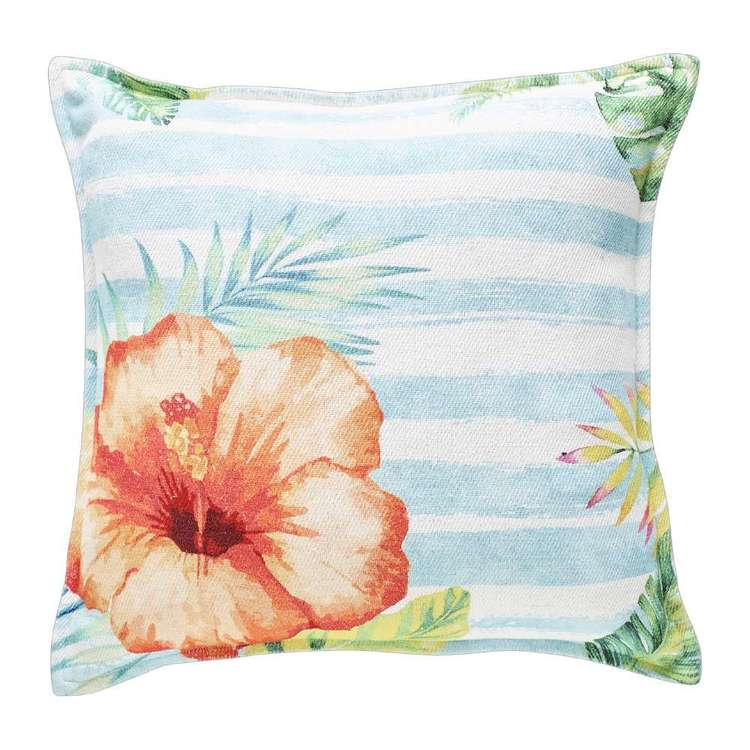 Koo Home Hibiscus Printed Textured Cushion