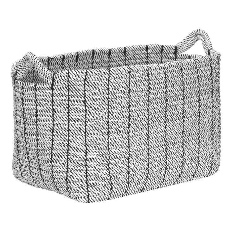 Bouclair Calm Moment Rope Basket White & Black