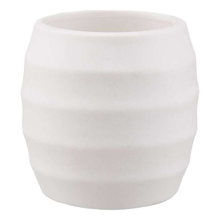 Bouclair Frozen Ripple Candle White 10 x 10 cm
