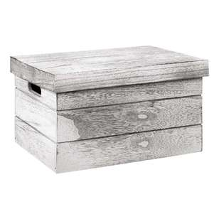 Bouclair Frozen Wooden Crate with Lid