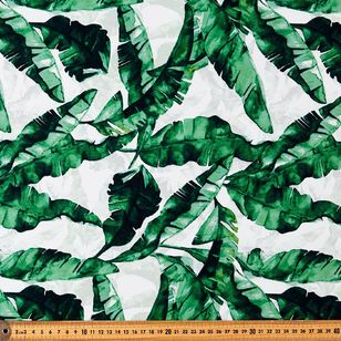 Banana Leaf Printed Montreaux Drill Fabric